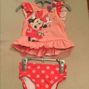 Disney Baby Minnie Swim Suit NEW
